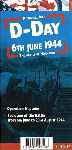 Jour j carte historique 6 juin 1944