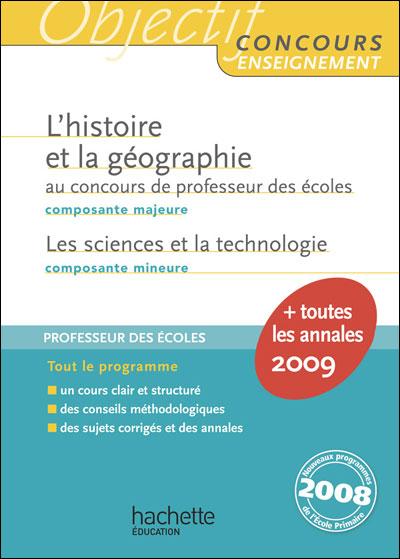 L'histoire et la géographie au concours de professeur des écoles 2009