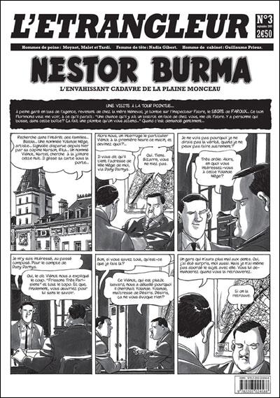 L'étrangleur - Nestor Burma Tome 3 : L'envahissant cadavre de la plaine Monceau
