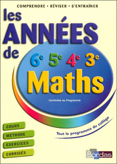 Annees de college maths