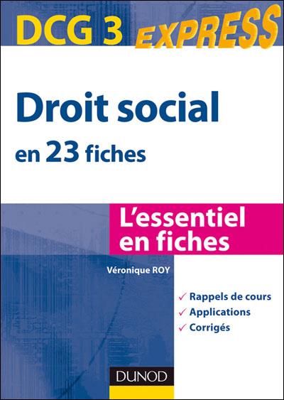 0c78259f04d Droit social DCG 3 - broché - Véronique Roy - Achat Livre