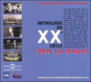 anthologie du 20e siecle par la radio