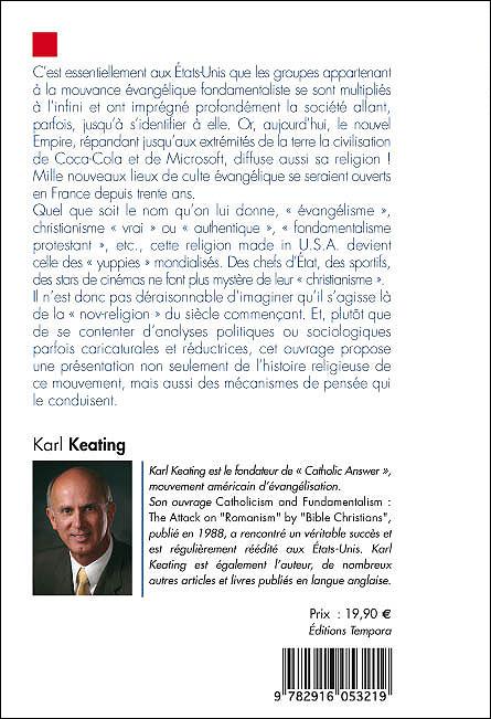 Une Religion Made In U S A Le Fondamentalisme Evangelique Broche Abbe Herve Benoit Karl Keating Achat Livre Ou Ebook Fnac