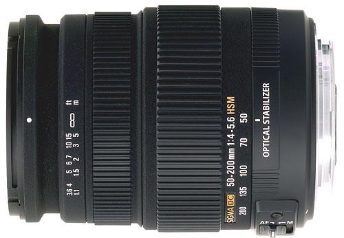 Sigma DC OS HSM 50 200 mm f40 56 Monture Pentax
