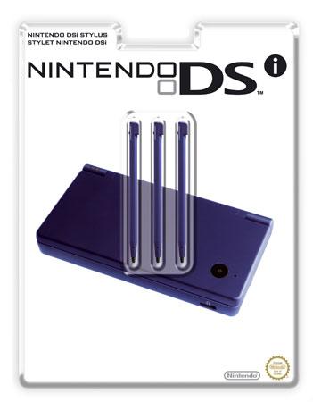 3 stylets bleu metal Nintendo pour DSi