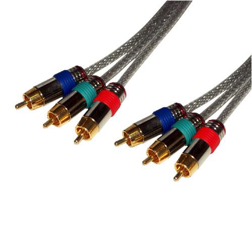 MCL Samar câble vidéo composante YUV translucide 2 mètres