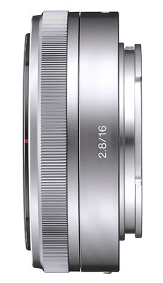 Objectif hybride Sony E Pancake 16 mm f/2.8, Dédié séries NEX