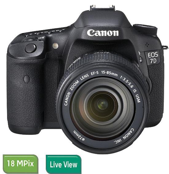 Reflex Canon EOS 7D + Obj. Canon EF-S IS 15 - 85 mm f/3.5 - 5.6