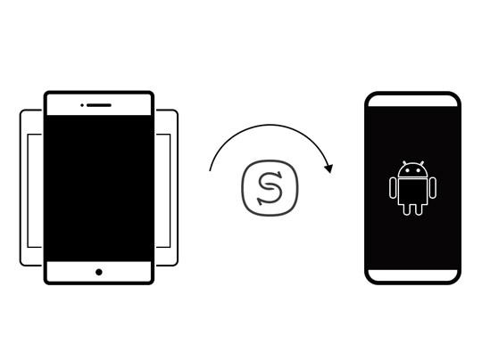 Muda entre sistemas ou aparelhos