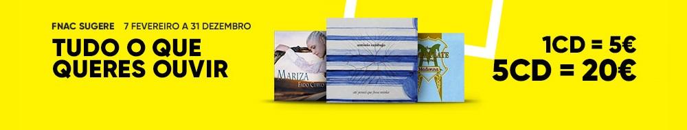 Música: 1CD=5€ | 5CD=20€ - Música em Campanha - Fnac pt
